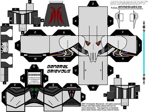 Wars Papercraft Templates - cubee general grievous by animeshark20 on deviantart