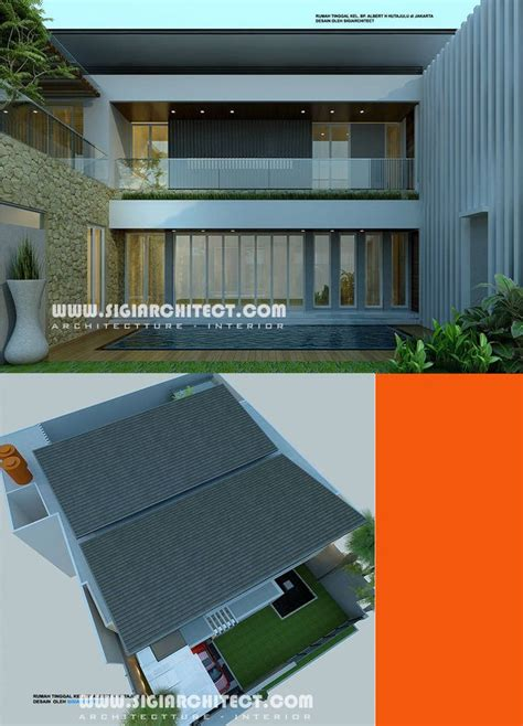 fasad rumah tropis images  pinterest modern homes modern houses  contemporary houses
