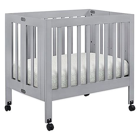 Mini Crib Babyletto Baby Furniture Gt Babyletto Origami Mini Crib In Grey From Buy Buy Baby