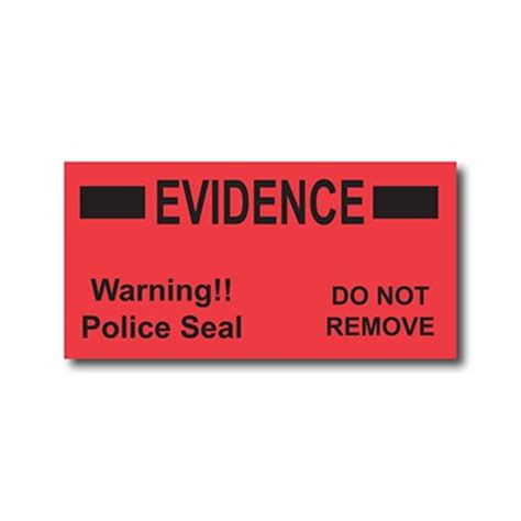 printable evidence labels police seal evidence labels evidence identification