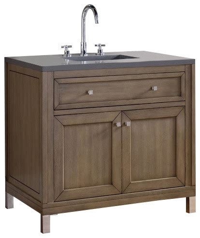 Chicago Bathroom Vanities Martin Furniture Chicago 36 Quot Single Vanity White Washed Walnut Bathroom Vanities And