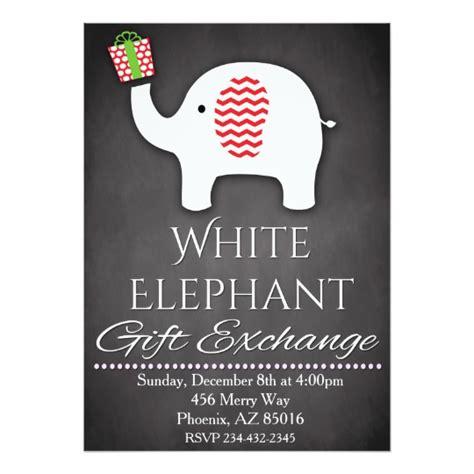 gift exchange invitations white elephant invitation gift exchange invite zazzle
