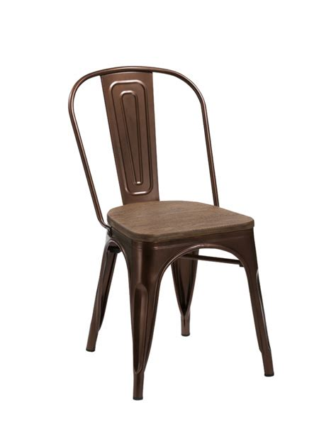jethro modern copper wood dining chair set of 2