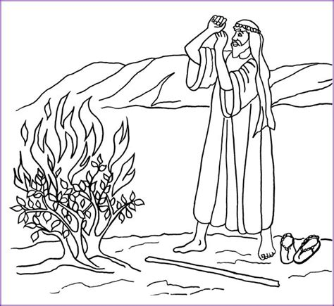 moses coloring pages preschool 17 best ideas about burning bush craft on pinterest