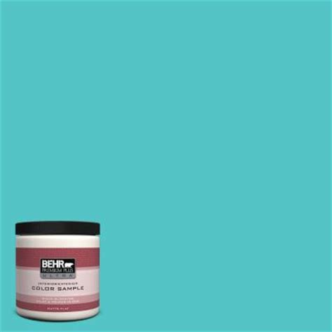 turquoise paint colors home depot behr premium plus ultra 8 oz 500b 4 gem turquoise