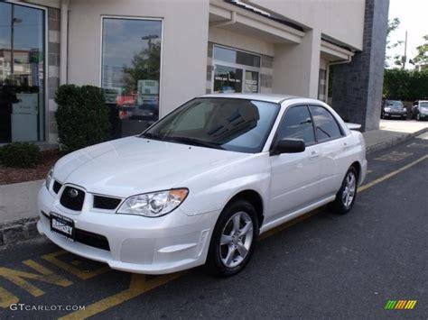 subaru sedan white 2007 satin white pearl subaru impreza 2 5i sedan 34242825