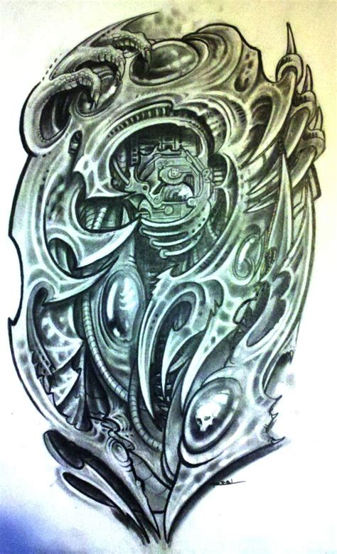 biomechanical tribal tattoo biomechanical tribal design by josephraeljr on