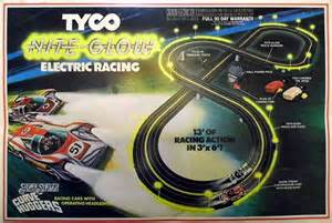Electric Slot Car Set Australia Vintage Tyco Nite Glow Electric Racing Slot Car Set With S