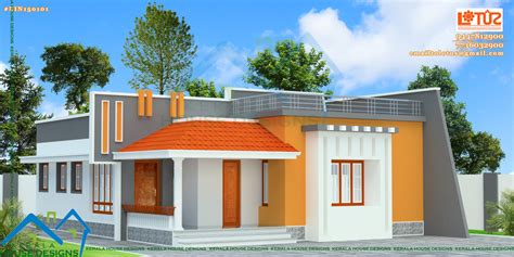 house of floors front elevation of single floor house kerala gallery with plans in pictures