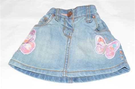 next butterfly denim skirt 3 6 months aylsham