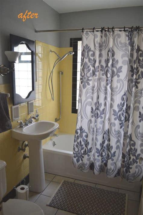 yellow tile bathrooms ideas  pinterest yellow