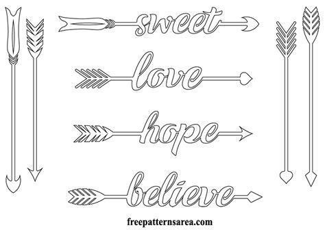 Arrow Silhouette Vector Art Stencil Cut Files Freepatternsarea Arrow Stencil Template