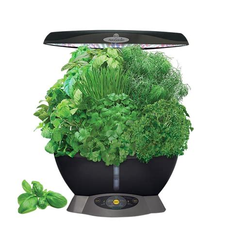 indoor herb garden kit lowes viagrow hydroponic black bucket deep water system 4 pack