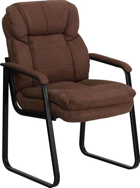 brown microfiber office chair flash furniture brown microfiber executive side chair with