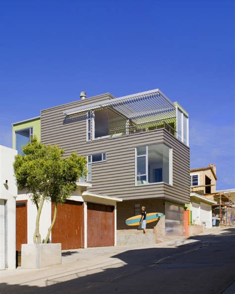 hermosa beach house hermosa beach house beach style exterior los angeles by robert nebolon architects