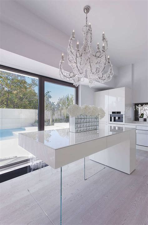 floating island kitchen bench with recessed downlights casa b by syraa liking the quot floating quot kitchen bench