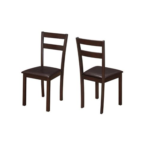 Cappuccino Dining Chairs Dining Chair In Cappuccino Set Of 2 I 1176