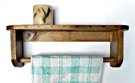 bathtowel rack with shelf wood towel holder recycled pallet