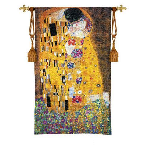 Gustav klimt the kiss imported modern decorative woven tapestry wall hanging ebay
