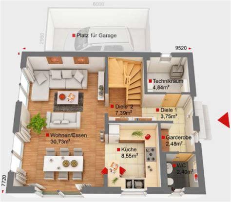 80 Qm Haus Bauen by Haus Bauen Ideen Mit Garage Emphit