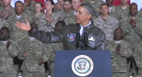 Obama Bringing Troops Home For The Holidays by Crediting Obama For Bringing Troops Home Without Noting He