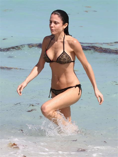 celebrity bethenny frankel bethenny frankel busty wearing skimpy bikini on a beach in