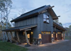 pole barn with apartment rustic outside wood and tin doors beams garage doors