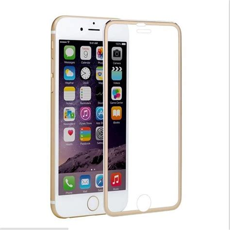 titanium alloy metal frame tempered glass screen protector