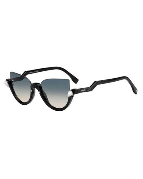 Half Glasses Sunglasses fendi blink half cat eye sunglasses