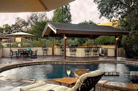 backyard designs with pool and outdoor kitchen chic and trendy backyard designs with pool and outdoor