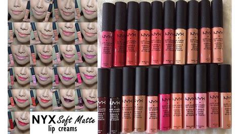 nyx soft matte lip swatches all nyx soft matte lip creams swatches saytiocoartillero