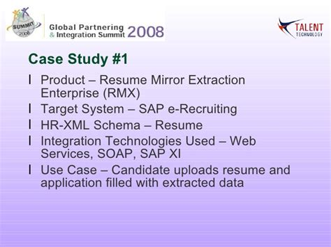 hr xml global partnering and integration summit 2008 business benef