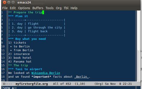 format html emacs org mode wikidata