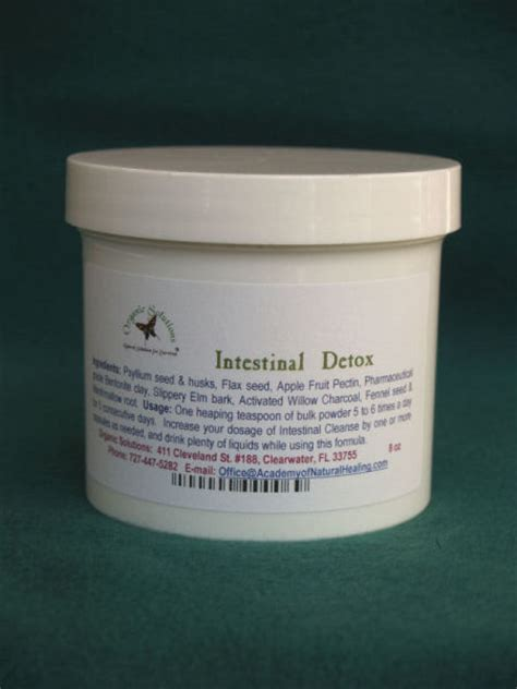 Psyllium Husk And Bentonite Clay Detox For Candida by Intestinal Detox 7oz Powder In New Eco Bag