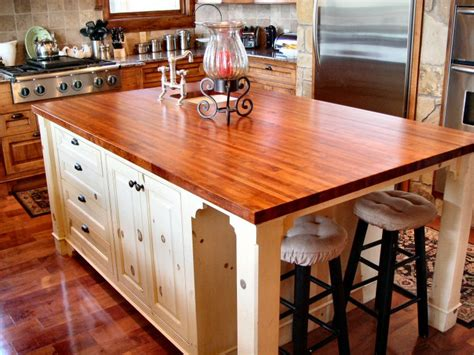 Kitchen Island Countertops | mesquite custom wood countertops butcher block