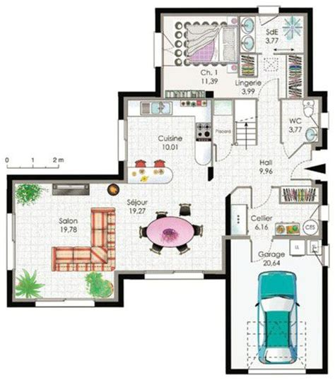 maison contemporaine 2 d 233 du plan de