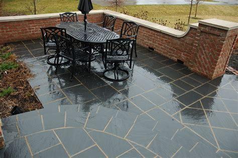 black slate paving patterns terrace traditional