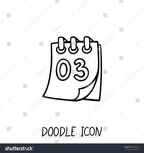 doodle calendar sign in doodle calendar icon vector illustration tearoff stock