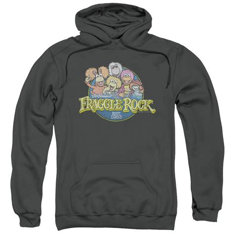 Hoodie Rock fraggle rock hoodie circle logo charcoal sweatshirt hoody fraggle rock circle logo shirts