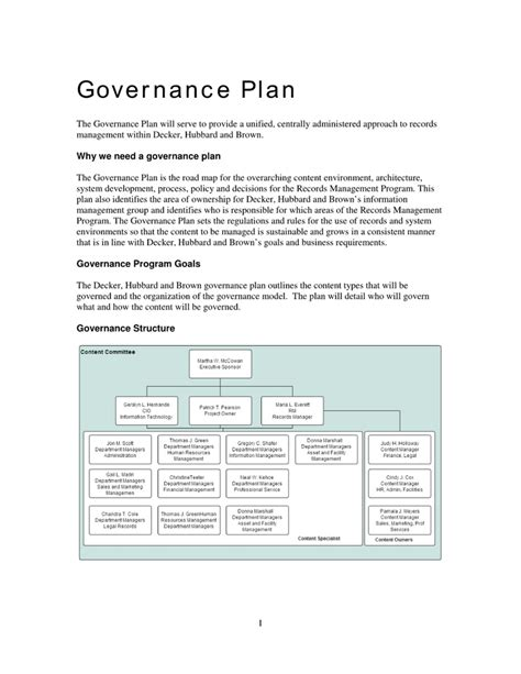 data governance template data governance project plan template 28 images