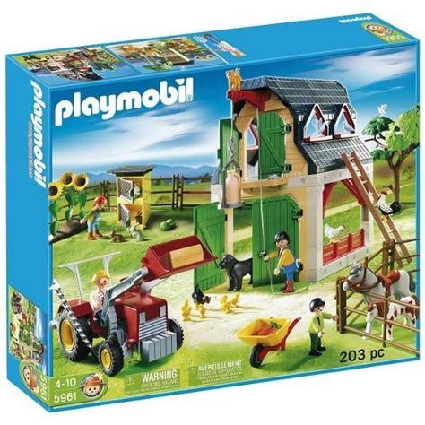 Grange Playmobil by Playmobil 5961 La Ferme Plus Les Accessoires Pla 5961