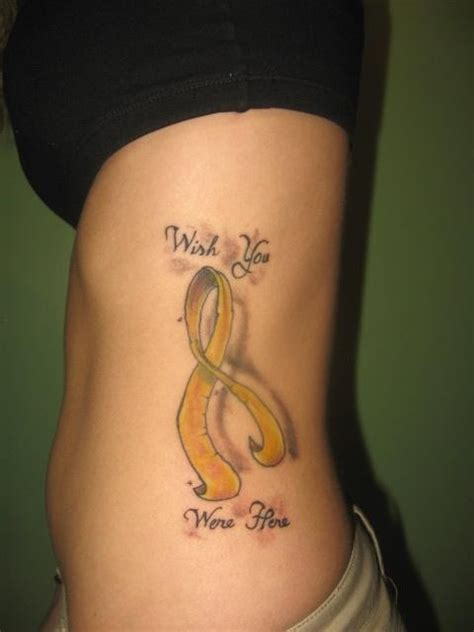 suicide tattoo designs yellow ribbon can be for both cancer and the