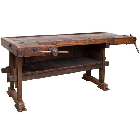 oak work bench oak carpenter s bench at 1stdibs