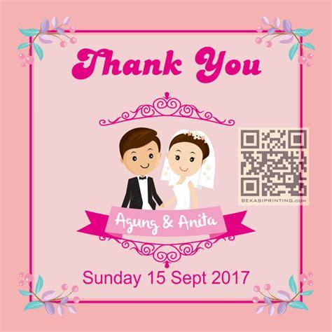 Kartu Ucapan Pernikahan By Request jual 38 kartu ucapan terima kasih souvenir pernikahan