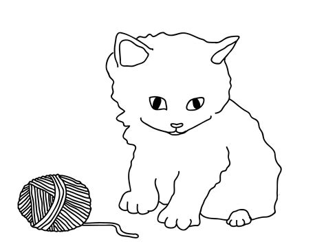 picture of to color free cat coloring pages