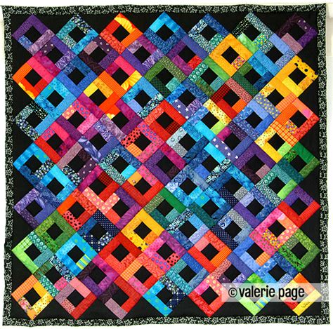 Image Of A Quilt by Bright Scraps On Black Quilt Pagequilts Feel The Warmth A Quilt