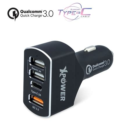 Charger Type C xpower cc4qc 47w charge 3 0 type c car charger
