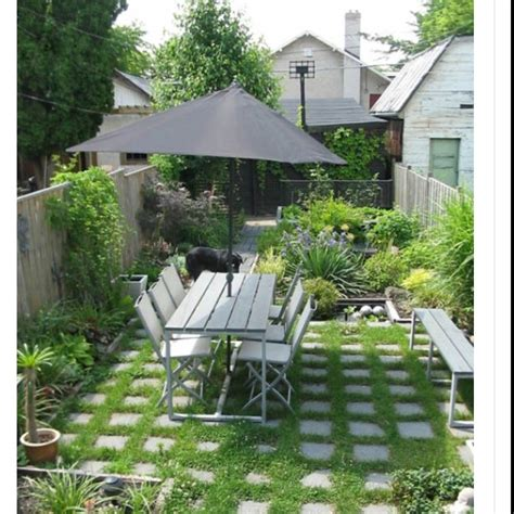 Landscaping Ideas For Small Backyard Green Small Yard Outdoor Living Pinterest Yards