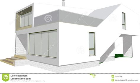 Modern Home Design Vector | modern house sketch vector stock vector image of