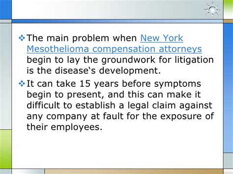 Compensation Mesothelioma by New York Mesothelioma Treatment And Compensation Suits